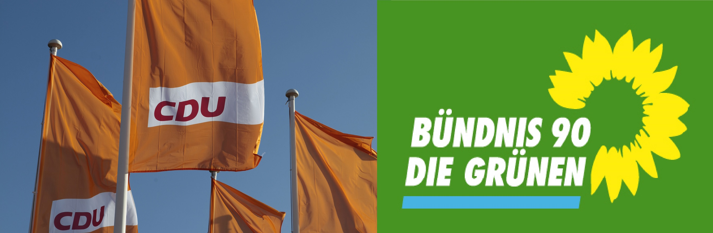 Logos CDU und Grüne