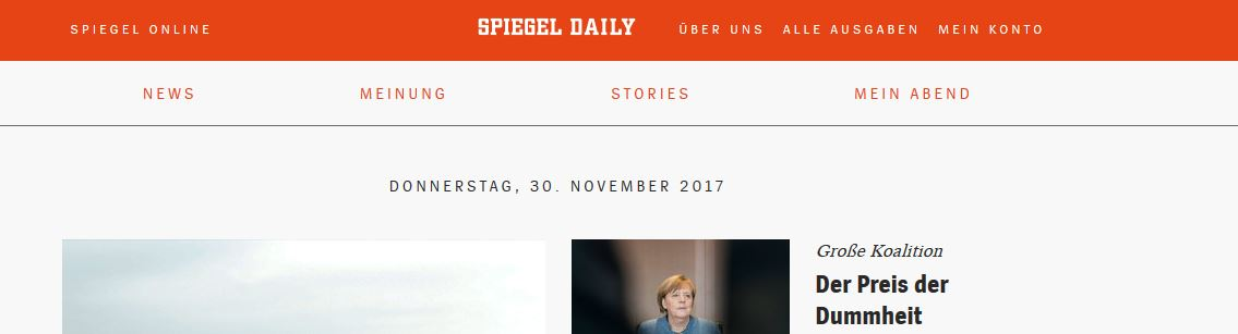 Screenshot Spiegel Daily