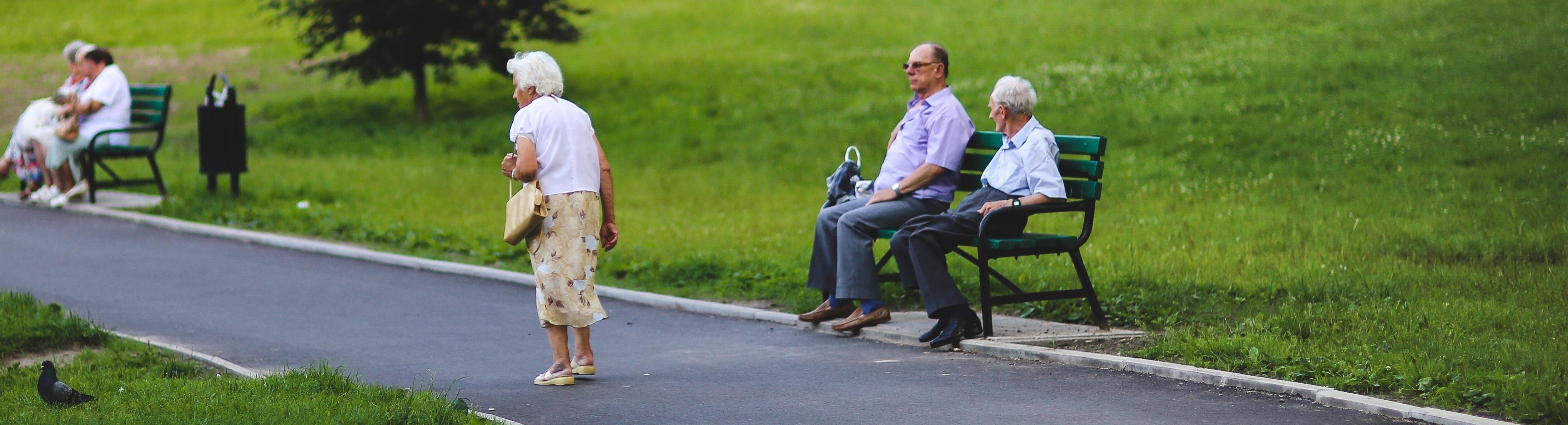 RenterInnen in einem Park