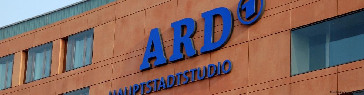 Blick auf das ARD Hauptstadtstudio