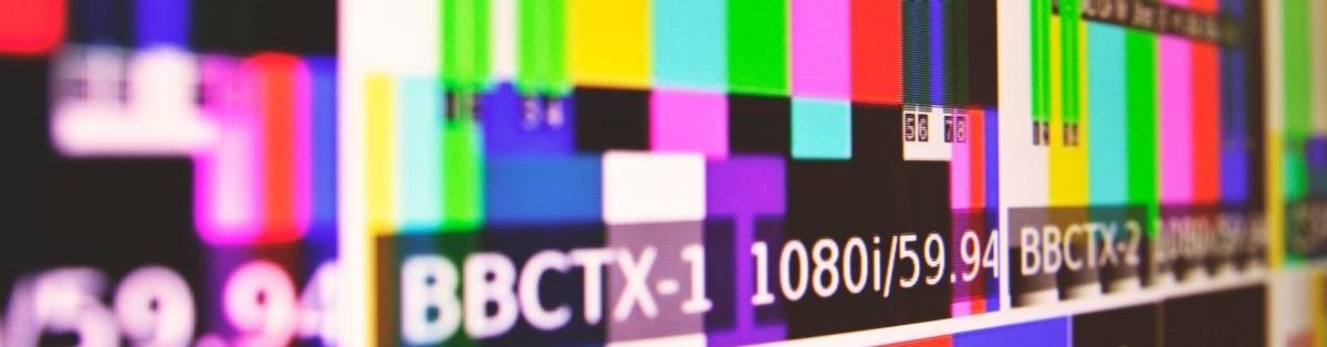 Testbild eines Fernseher